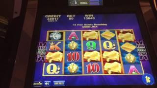 Aristocrat STACK of GOLD Slot BIG WIN Bonus 3 Wilds
