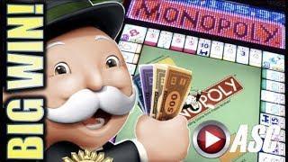 •MONOPOLY JACKPOT STATION • BIG WIN!• ALL ABOARD! w. MONOPOLY BIG MONEY REEL Slot Machine Bonus