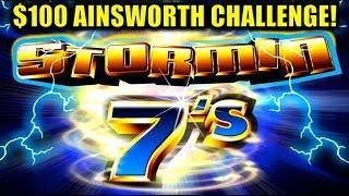 $100 MAX BET CHALLENGE Stormin 7 - BONUS WIN