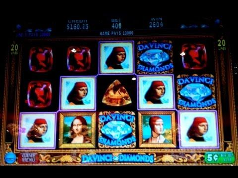 Davinci Diamonds Slot Machine $20 Max Bet High Limit Live Play!