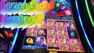 NEW SLOT MACHINE - TARZAN GRAND HANDPAY!!!