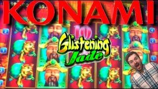 HOT AF HITS IN THE HIGH LIMIT SALON! High Limit Glistening Jade Slot Machine by Konami