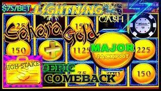 HIGH LIMIT Lightning Cash Sahara Gold HUGE MAJOR JACKPOT HANDPAY •️HIGH STAKES EPIC COMEBACK HANDPAY