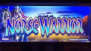 Konami  Norse Warrior Slot Machine - Line Hit & Small Bonus With Retrigger