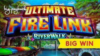 $10 BETS   NEW FIRE LINK! Ultimate Fire Link River Walk Slot - ALL FEATURES, NICE!