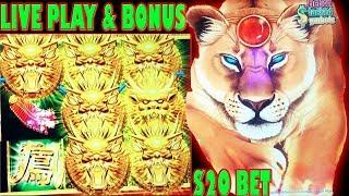 • DRAGON CELEBRATION • BONUS • WINS • LIVE PLAY • $20 BET HIGH LIMIT SLOT MACHINE •