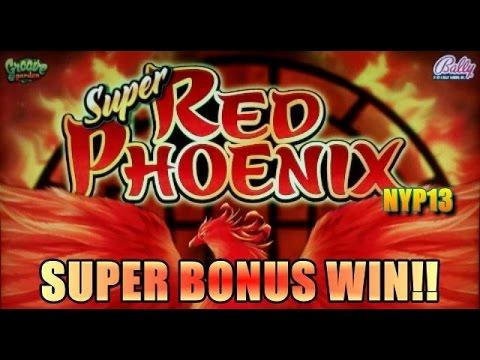 Bally - Super Red Phoenix Slot Bonus BIG WIN