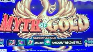 New Konami - Myth Of Gold Slot Machine -  Collection of Line Hits on a $1.20 bet