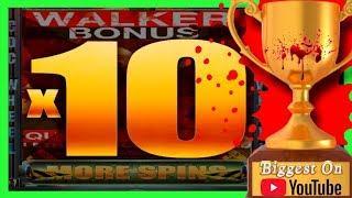 BIGGEST WIN on Youtube on WALKING DEAD Slot Machine•CDC BONUS W/ SDGuy1234