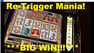 Cleopatra - Huge Number of Re-Triggers !Bacon Wrapped Titties Bonus Win