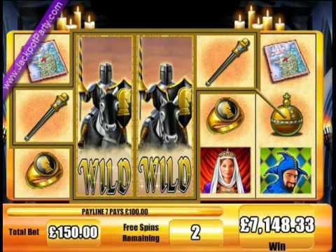 £17,935 SUPER BIG WIN (120X STAKE) BLACK KNIGHT™ BIG WIN SLOTS AT JACKPOT PARTY