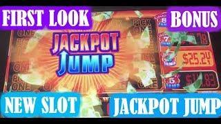 • FIRST LOOK • JACKPOT JUMP •  NEW SLOT MACHINE • LIVE PLAY • BONUS • JACKPOT JUMP FEATURE •