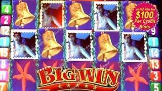 •$100 Mermaid Magic Slot BIG WIN! Jackpot, Handpay VEGAS CASINO Aristocrat, IGT WMS Under Sea! • SiX