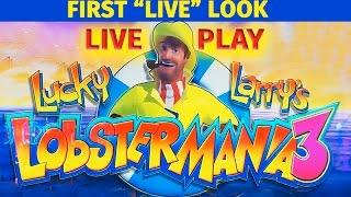 "Lucky Larry's Lobstermania 3 - First ""LIVE"" Look - LIVE PLAY! + Bonus - Slot Machine Bonus"