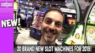 • PREMIERE of 20 BRAND NEW 2019 SLOT MACHINES • BCSlots LIVE from NIGA