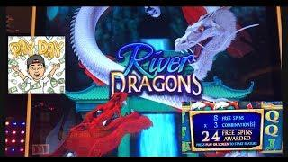 River Dragons Slot machine • live play bonuses at San Manuel