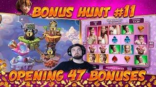 BONUS HUNT #11 - OPENING 47 SLOT BONUSES LIVE ON STREAM! - BIG WINS?
