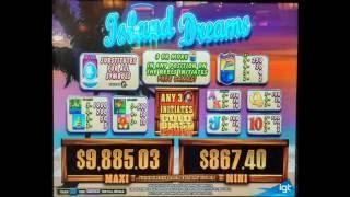 ISLAND DREAMS BONUS - BIG JUICY WIN!!! 75 FREE GAMES! at Pechanga Resort and Casino