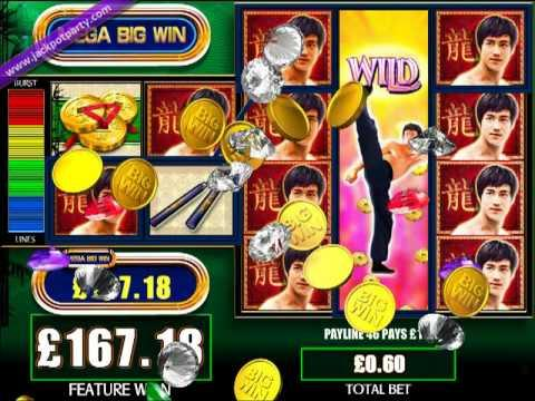 £199.32 MEGA BIG WIN (332 X STAKE) BRUCE LEE ™ - BIG WIN SLOTS AT JACKPOT PARTY