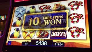 * LONGHORN JACKPOTS * Slot Bonus & Re Trigger NICE WIN!
