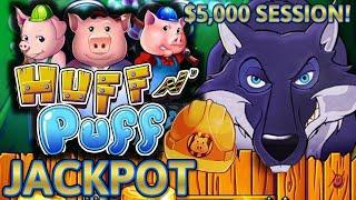 HIGH LIMIT Lock It Link Huff N' Puff HANDPAY JACKPOT ⋆ Slots ⋆(3) $50 BONUS ROUNDS Slot Machine Casino