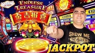 High Limit Endless Treasure Slot Machine HANDPAY JACKPOT - PART 1 | Live Slot Play In Las Vegas