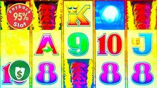 Tiki Torch 95% payback slot machine, bonus, sort of