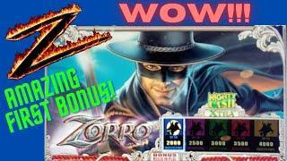 ⋆ Slots ⋆  AMAZING FIRST BONUS ON MIGHTY CASH ZORRO SLOT MACHINE POKIE