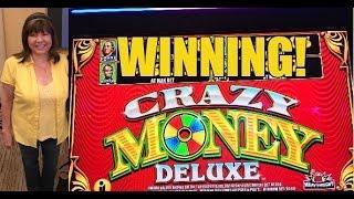WINNING! CRAZY MONEY DELUXE SLOT MACHINE-BONUSES!