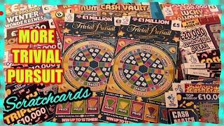 TRIVIAL PURSUIT  SCRATCHCARDS..LUCKY NUMBERS..CASH VAULT..REDHOT BINGO.