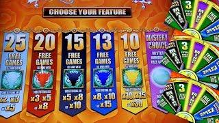 5 Dragons Grand Slot Machine Bonus Won ! NICE GAME . Live Aristocrat Slot Machine Play