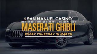 2019 Maserati Ghibli Giveaway at San Manuel Casino [March 2019]