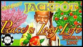 ★ Slots ★HIGH LIMIT Dragon Link Peace & Long Life HANDPAY JACKPOT ★ Slots ★$30 SPIN BONUS ROUND Slot