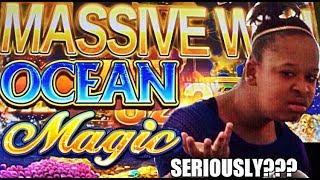 • MASSIVE WIN on FIRST TRY? • OCEAN MAGIC slot machine BONUS WINS !