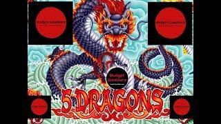 LONGHORN JACKPOTS ~ 5 DRAGONS ~ Free Spins Bonus ~ Nice Win ~ Live Slot Play @ San Manuel