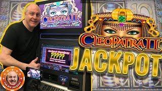 HIGH LIMIT! •Cleopatra Multiplay & Cleopatra 2 JACKPOTS! •BIG WIN$
