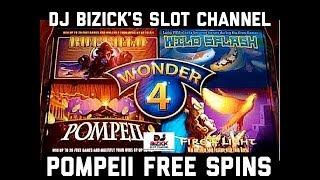 ~POMPEII FREE SPINS ~ Wonder 4 Slot Machine ~ MOTORCITY CASINO ~ Detroit, MI