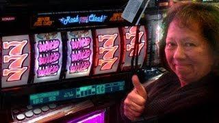 "JACKPOT !!! Rock around the Clock - 1c Konami Video Slots - ""San Manuel Sevens..."""