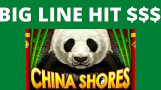 BIG BIG JACKPOT LINE HIT - CHINA SHORES  SLOT CASINO WIN - HELP THE CHANNEL PLEASE SUBSCRIBE