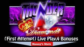 (First Attempt) Thunder Diamonds by Ainsworth 4 Bounses and Live Play at Barona Casino