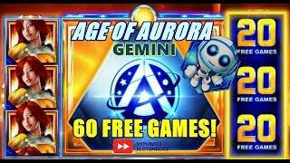 IGT - Age of Aurora Gemini Slot Bonus WINS