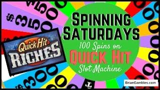100 Spins on Quick Hit! • SPINNING SATURDAYS •  EVERY SATURDAY Slot Machine Pokies in Vegas/SoCal
