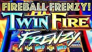 "FIREBALL FRENZY! ⋆ Slots ⋆️""HOT STUFF"" WIN! TWIN FIRE FRENZY $6.00 BET BONUS Slot Machine (SG Gaming)"