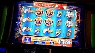 Madame X slot machine bonus win at Sugarhouse Casino