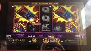 Lock it Link Eureka Reel Blast Slot Machine Bonus - Dynamite!