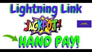 WOW HAND PAY LIGHTNING LINK Slot Machine #pokie #slotwinner