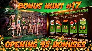 BONUS HUNT #17 - OPENING 45 SLOT BONUSES LIVE ON STREAM! - BIG WINS?