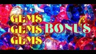Gems Gems Gems WMS Slot Machine Bonus Win