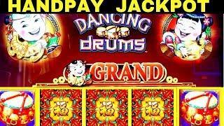 •HANDPAY JACKPOT• on Dancing Drums Slot Machine | MASSIVE WIN | Max Bet | Wheel Of Fortune Bonuses