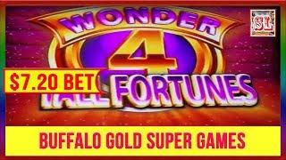 ** SUPER GAMES ON WONDER 4 TALL FORTUNES BUFFALO GOLD ** SLOT LOVER **